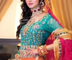 bride, pakistani, and dress image