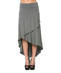 Look at this #zulilyfind! Gray Tier Hi-Low Skirt by A La Tzarina #zulilyfinds