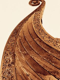 The fine details carved within the wood ledges shows the great amount of pride the Vikings took in their boats.