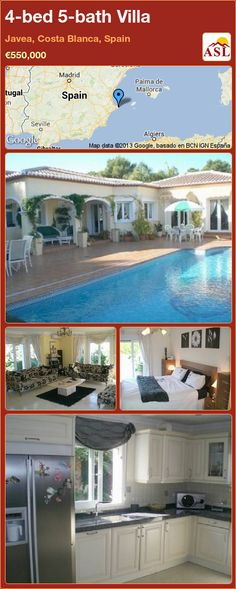 4-bed 5-bath Villa in Javea, Costa Blanca, Spain ►€550,000 #PropertyForSaleInSpain