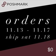 Shipping Delay📦 Orders placed 11/13 thru 11/17 will be shipped Saturday 11/18! Don't worry, it'll be worth the wait!   xo EE EVETTE ENCOUNTERS Accessories