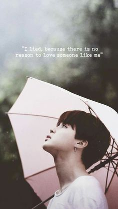 I lied because there is no reason to love someone Park Jimin Bts Song Lyrics, Bts Lyrics Quotes, Bts Qoutes, Bts Wallpaper Lyrics, Jimin Wallpaper, Bts Citations, Bts Jungkook, Taehyung, Reasons To Love Someone
