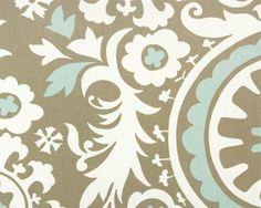 New Arrivals Inc Fabric - Suzani in Khaki