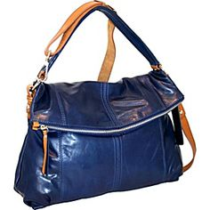 Flap Over Soft Shoulder Bag with Cross Body Strap Cobalt ~ Love this bag!