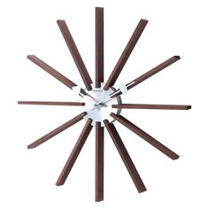 George Nelson Square Spindle 19.25 in. Wall Clock | from hayneedle.com