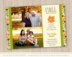 Instant Download Fall Mini Session Marketing Board by PopuriDesign, $7.00