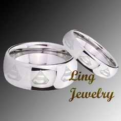 superman wedding rings omgperfect for my brother and sister in - Superman Wedding Ring