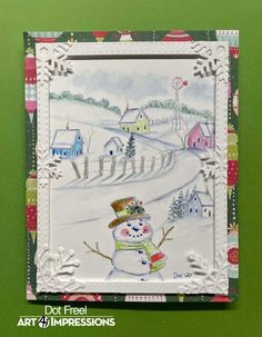Watercolor Christmas Cards, Watercolor Cards, Water Color Markers, Watercolor Paintings For Beginners, Art Impressions Stamps, Wink Of Stella, Watercolor Design, Winter Cards, Love Cards