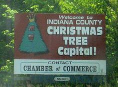 Indiana, PA.  Where I was born.  (And also Jimmy Stewart which I do have to add)
