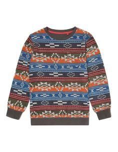 Tribal Print Sweatshirt   Boys   George at ASDA