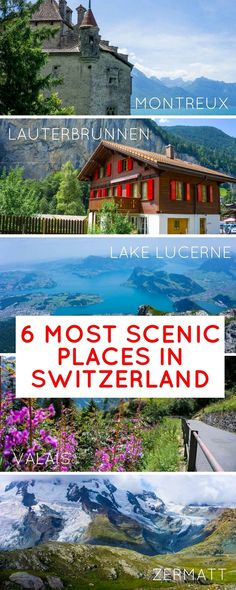 All the most stunning places in Switzerland in summer Lucerne the Matterhorn and Zermatt Interlaken the Alps the Valais Lauterbrunnen Montreux & more and ideas on things to do & how to best get around by train. Backpacking Europe, Europe Travel Tips, European Travel, Travel Destinations, Beautiful Places To Visit, Cool Places To Visit, Places To Travel, Places To Go, Vacation Places