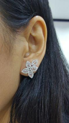 Rose cut diamonds earring