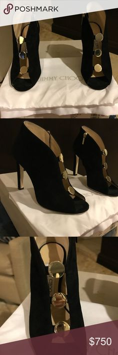 Jimmy Choo Lorna Almost new Jimmy Choo Lorna bootie, Black suede leather, heel height is 7 inches .. size 7 very comfortable Jimmy Choo Shoes Ankle Boots & Booties