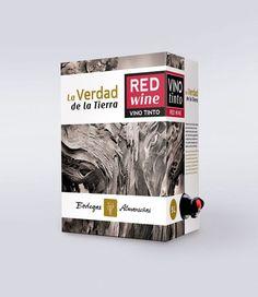 Vino Tinto Bag in Box • D.O. Almansa. Red Wine Pack Design.