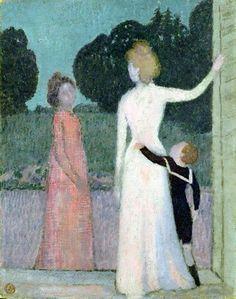 Maurice Denis - Madame Adrien Mithouard and Her Son, Jacques, 1903. Pastel on cardboard, 51 x 40.2 cm. Hamburger Kunsthalle, Hamburg, Germany