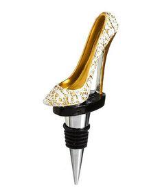 Look what I found on #zulily! Wedding Lace Stiletto Wine Stopper #zulilyfinds
