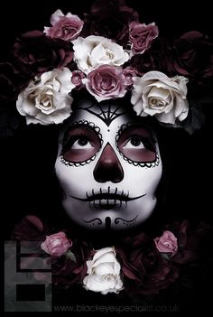 purple day of the dead girl