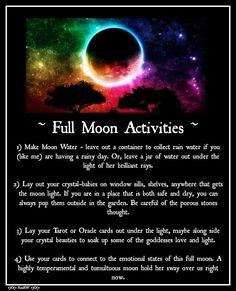 Moon: #Full #Moon Activities.