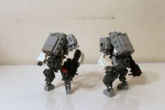 I tried to go for a grunty, armored, but mass-producable look. Now imagine a hundred more of these storming the battlefield. Lego Army, Lego Military, Amazing Lego Creations, Minecraft Creations, Cool Robots, Cool Lego, Lego Bots, Lego Machines, Lego Pictures