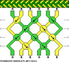 A pattern from friendship-bracelets.net A great place to go for new patterns