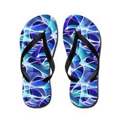 Waves Pattern on Dark Blue Flip Flops> Flip Flops - Aussie Thongs> Terrella Wildlife Shelter Blue Flip Flops, Abstract Waves, Dark Blue Background, Wave Pattern, Thongs, Shelter, My Design, Wildlife, Unisex