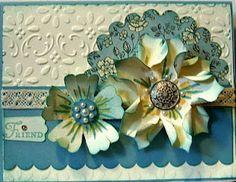 Flowers made with Fancy folds flower die     craftymariasstampingworld.blogspot.com