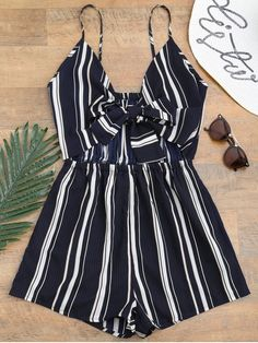 Up to 80% OFF! Tied Cami Striped Beach Romper. #Zaful #CoverUps zaful,zaful outfits,zaful dresses,spring outfits,summer dresses,Valentine's Day,valentines day ideas,cute,casual,classy,lace,mesh,fashion,style,swimwear,swimsuits,beach cover ups,swimsuit cover,jumpsuits,rompers,playsuits,dressy jumpsuits,playsuits two piece,two piece outfits,two piece dresses,dresses,printed dresses,sundresses,long sleeve dresses,mini dresses,maxi dresses,bohemian dresses @zaful Extra 10% OFF Code:ZF2017