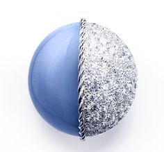 Blue calcita and diamonds