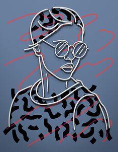 Ukrainian illustrator Vasya Kolotusha created these amazing neon GIFs with an awesome retro vibe. Graphic Design Typography, Graphic Design Illustration, Graphic Art, Illustration Art, Web Design, Grid Design, Motion Poster, Illustrations And Posters, Fashion Illustrations