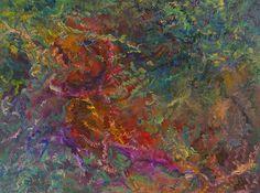 acrylic on canvas   flower experiment by talented artist friend Maureen Gasek.