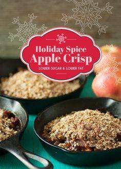 Holiday Spice Skillet Apple Crisp http://dessertly.com/recipes/holiday-spice-skillet-apple-crisp/