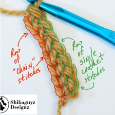 Foundation Single Crochet Photo Tutorial by Shibaguyz Designz | Includes Free Graphic Download Read the post now and pin it for reference later!