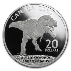 Hot new coin added - 1 oz. Fine Silver Coin – Canadian Dinosaurs: Albertosaurus - http://ponderosa.co/royalcanadianmint/2014/11/10/1-oz-fine-silver-coin-canadian-dinosaurs-albertosaurus/