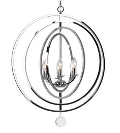 Crystorama 576-CH Finley 6 Light 23 inch Chrome Chandelier Ceiling Light  sc 1 st  Pinterest & 6LT Chandelier Polished Chrome Finish Gerrie Lighting | Lighting ... azcodes.com