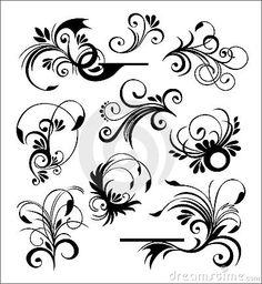 Style ornaments vector by Beliksk, via Dreamstime