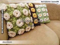 almofadas de croche