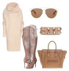 """""""Untitled #156"""" by lillylilit on Polyvore featuring Haider Ackermann, Steve Madden, CÉLINE, Christian Dior, Valentino, women's clothing, women's fashion, women, female and woman"""