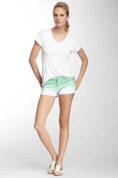 Ombre Frayed Short