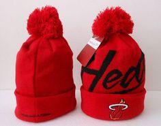 Miami Heat Winter Outdoor Sports Warm Knit Beanie Hat Pom Pom