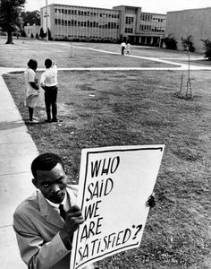 High school picketer, Houston, Texas, May 10, 1965 unknown photographer