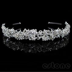 Free shipping Twinkling Full Crystal Flower Leaf Wedding Bridal Flower Girl Tiara New Fashion-in Hair Jewelry from Jewelry on Aliexpress.com | Alibaba Group