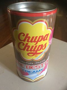 Chupa Chups Lollipops Moneybox Money Box 240 Gm Cola Fruit 2014 Used Empty Can