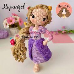 Crochet Disney, Kawaii Crochet, Crochet Geek, Crochet Square Patterns, Crochet Patterns Amigurumi, Amigurumi Doll, Crochet Baby Toys, Crochet For Kids, Crochet Dolls