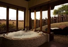 The five star Hlosi Game Lodge is in the malaria free Amakhala Game Reserve, just 40 minutes from the city of Port Elizabeth in the Eastern Cape of South Africa. This exclusive Lodge invites guests to experience a real luxury, private accommodation.