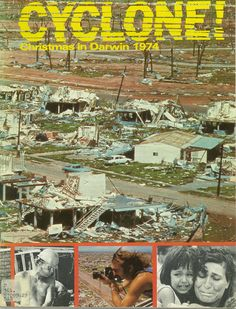 A Sydney Morning Herald magazine 'Cyclone. Christmas in Darwin 1974'. Cyclone Tracy led to the largest peacetime evacuation in Australia's history as more than half the population was airlifted to southern cities after their city was flattened and literally wiped out. Darwin, Northern Territory.