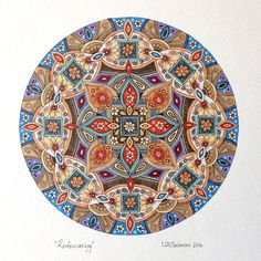 'Rediscovering' Mandala art by Cape Town artist Lize Beekman.