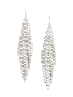 Saint Laurent Smoking Crystal-embellished Mesh Earrings In Silver Men's Fitness, Muscle Fitness, Gain Muscle, Muscle Men, Build Muscle, Crystal Earrings, Women's Earrings, Silver Earrings, Workout Routine For Men