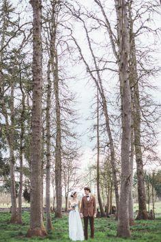 Woodsy wedding backdrop // Hazelwood Photo