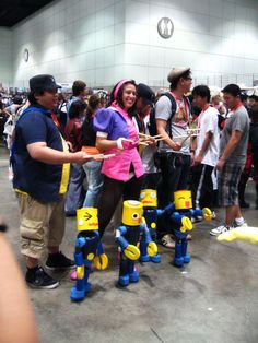 Attendees with Lego Puppets