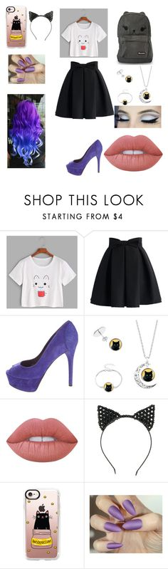 """""""Untitled #65"""" by skyepicness on Polyvore featuring Chicwish, Brian Atwood, Loungefly, Lime Crime and Casetify"""